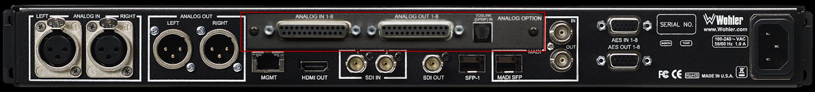 Analog Option Card