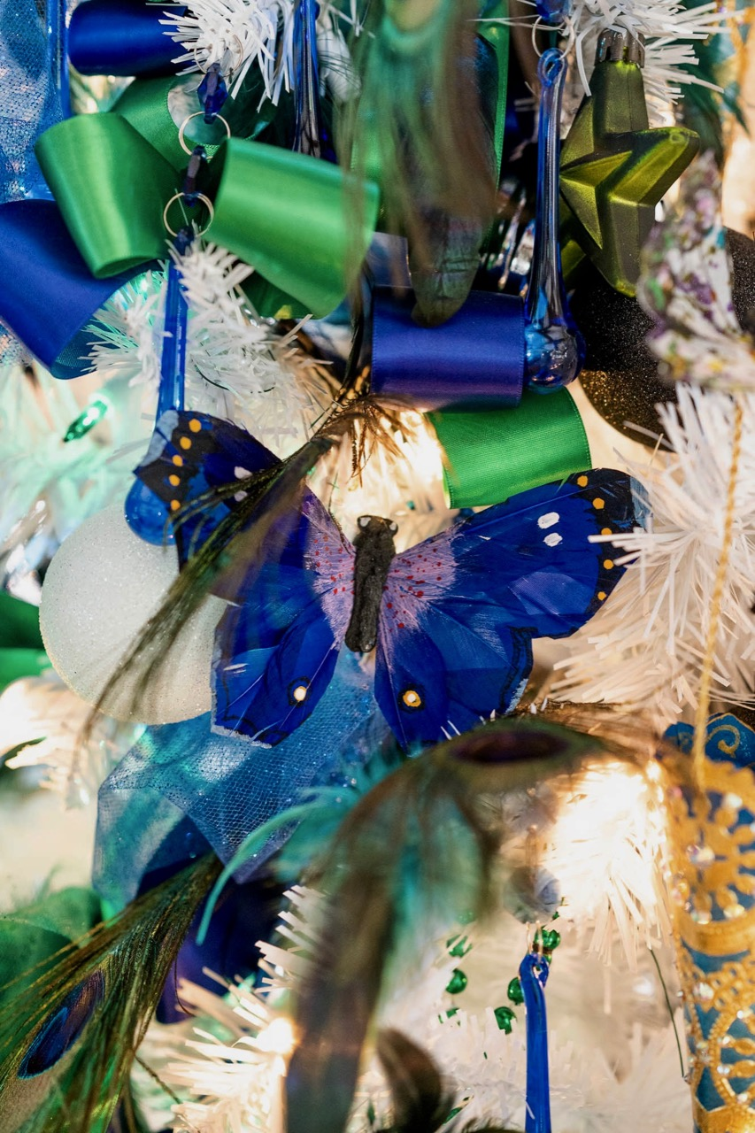 Detail, Mardi Gras Christmas Tree