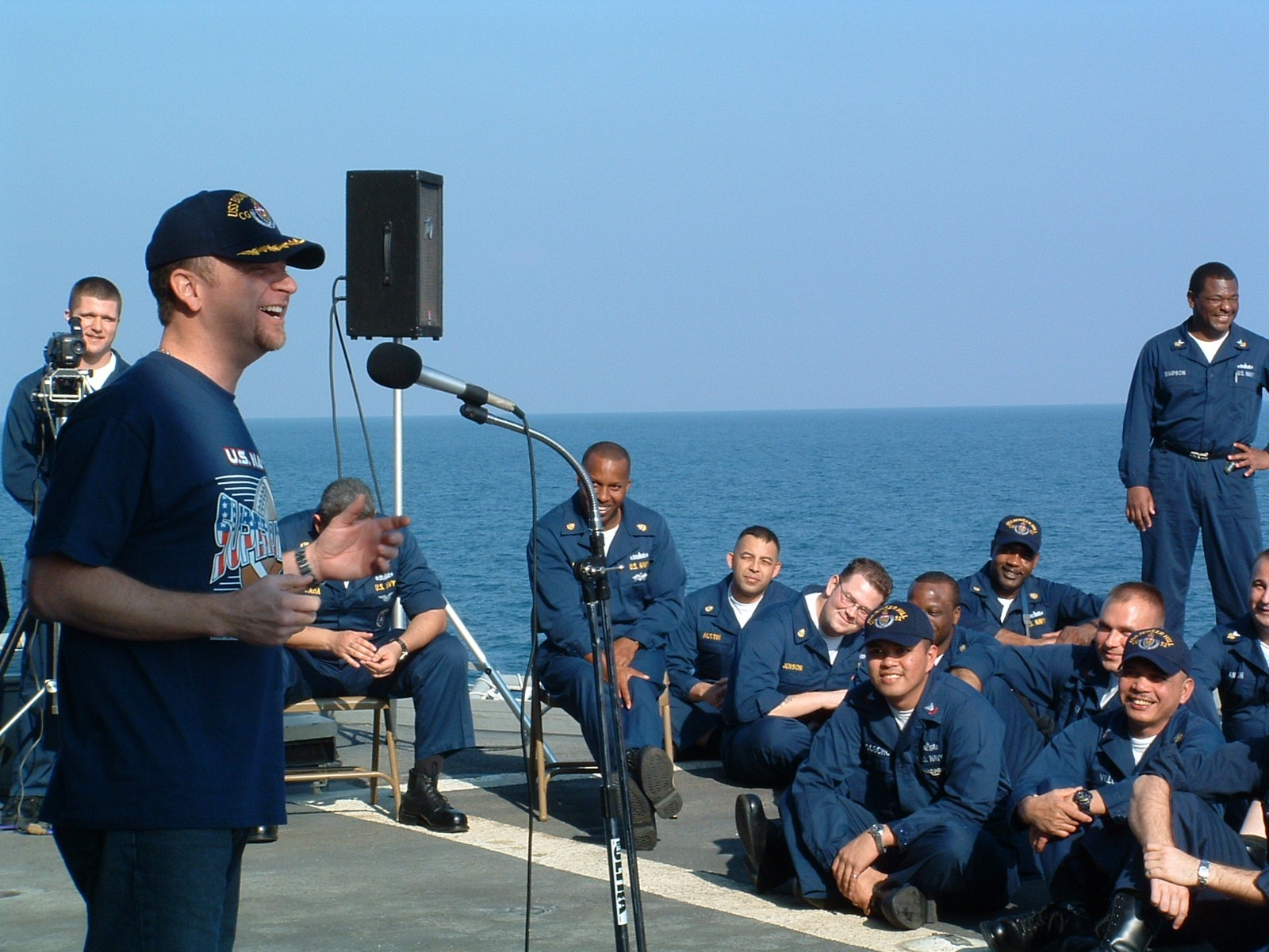 Don Barnhart Entertaining The Troops In The Persian Gulf