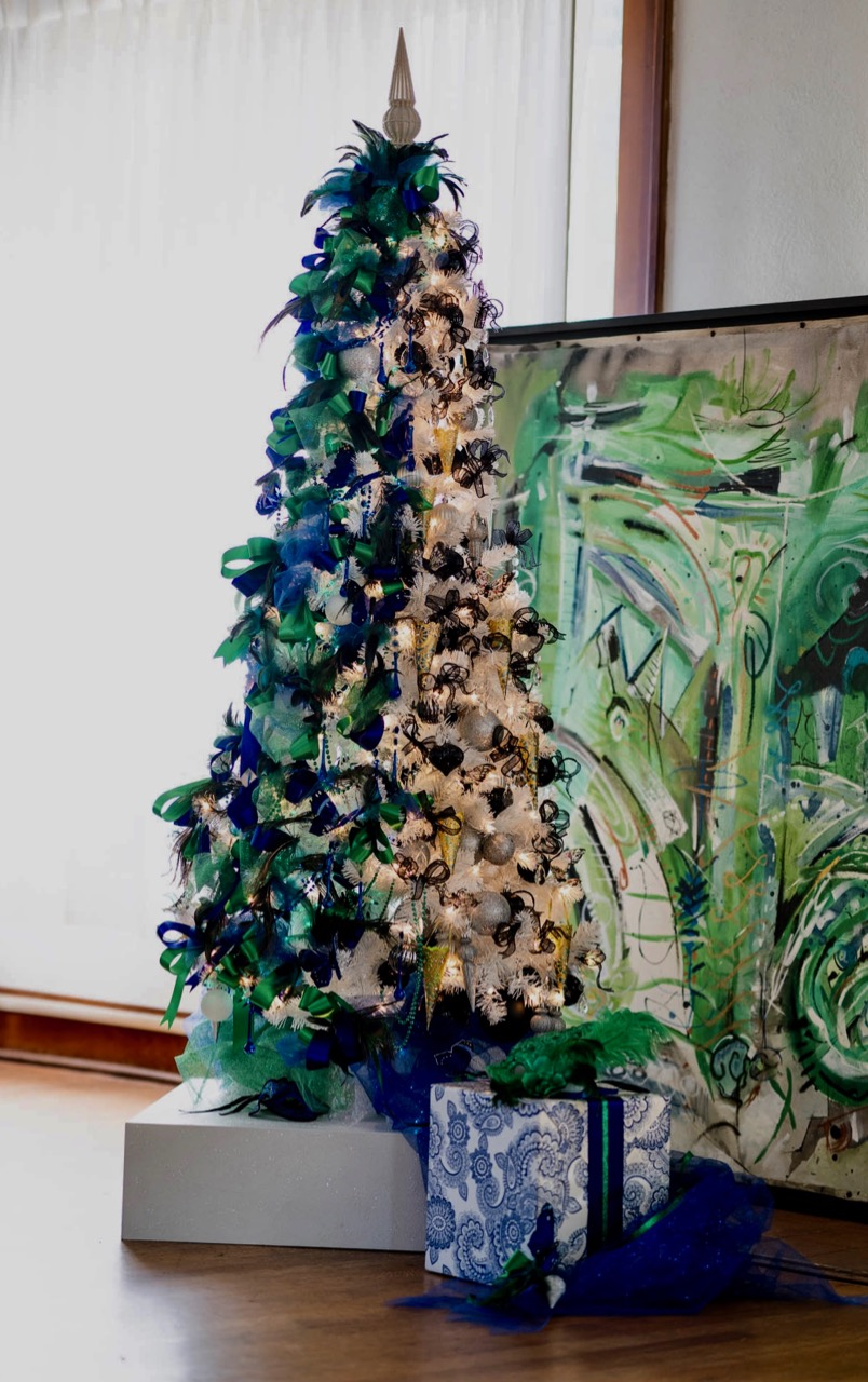 Mardi Gras Christmas Tree
