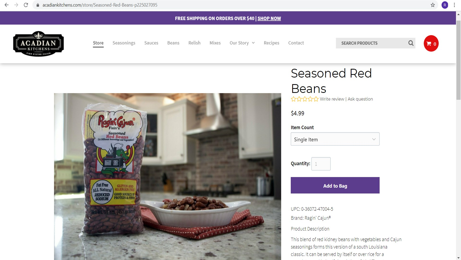 New Acadian Kitchens Website Beans