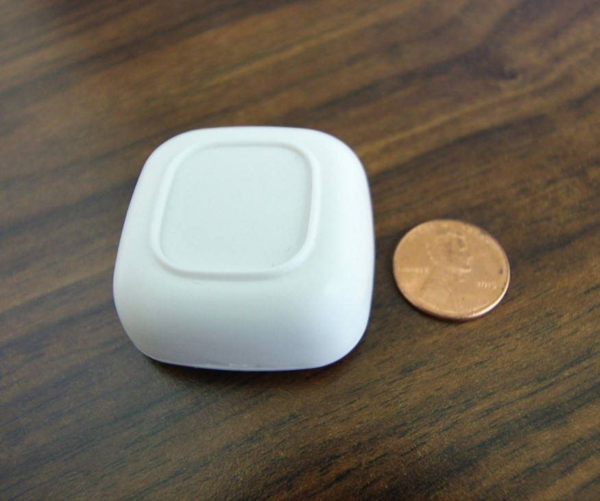 Room ID beacon is low profile and has 5 years minimum battery life